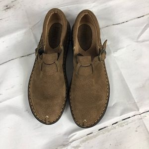 Born Marled Leather/suede buckle mocs- New w/o box